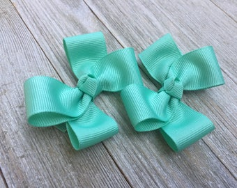Lucite Hair Bows,Pigtail Hair Bows,3 Inch Hair Bows,Alligator Clips,Non Slip Bows,Birthday Party Favors