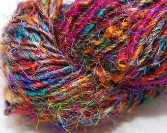 Recycled Sari Silk Yarn Hank - Multicolor