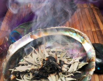 LOOSE WHITE SAGE For Smudging to Clear Negative Energy in Your Home - Used in Native American Wicca Pagan Smudge Ceremonies for Purification