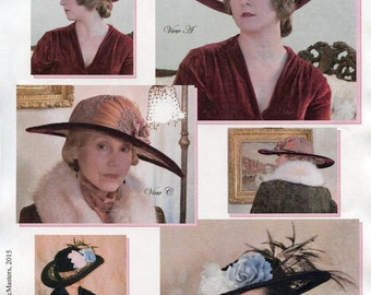 Late Teens - Early 1920s Lace Brim Picture Hat Sewing Pattern # 62 by Lynn McMasters