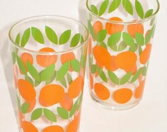 Vintage 70s juice glasses