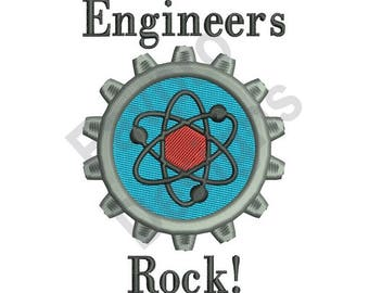 Engineers Rock! - Machine Embroidery Design