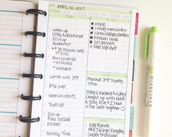 Digital Mini Happy Planner Size Undated Daily Grid Style Inserts