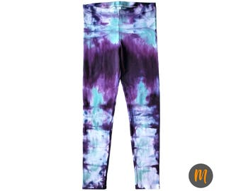 Iceland Purple Tie Dye Leggings