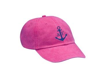 DG Delta Gamma Anchor Hat Choose Your Colors Sorority Hat