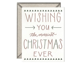 Merriest Christmas Ever letterpress card