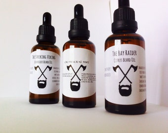 Beard oil kit. Father's Day gift. Beard oil set. Beard grooming kit. 3 beard oils! Great Christmas gift!