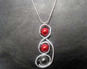 aluminum wire and beads necklace