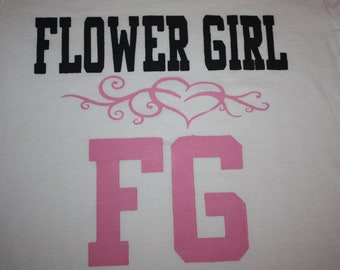 Jersey style double sided flower girl t shirt