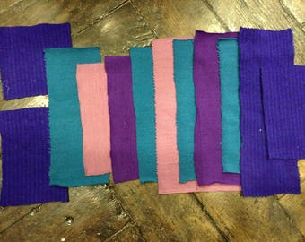 12 coupons jersey pink, purple, violet and blue duck (lot no. 1)