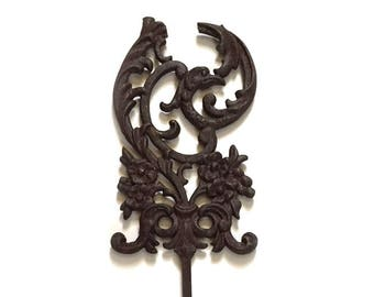 Antique Cast Iron Post Architectural Salvage Federal Eagle - Fence Ornamental Iron