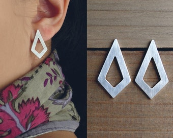 Mother gift / diamond shape earrings / geometric stud earrings / rhombus earrings / lightweight earrings / gift under 25 / holiday gift