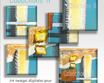 Digital images for square cabochons abstract art