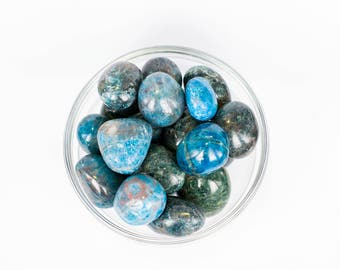 XL  Size Blue Apatite Tumbled Stone Healing Crystal