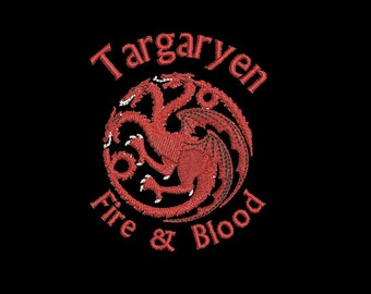 Machine Embroidery Design Instant Download - Game of Thrones House Targaryen Seal