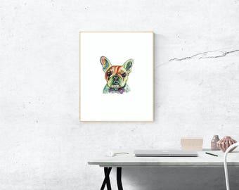 French Bulldog Art Print - Original Watercolor Wall Art