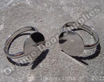 Bling Ring with 12mm Pad- 50 pcs (JBF 100)