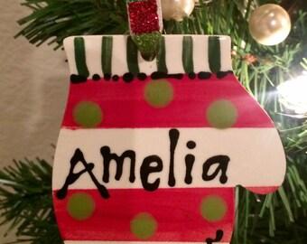 Personalized Mitten Ornament