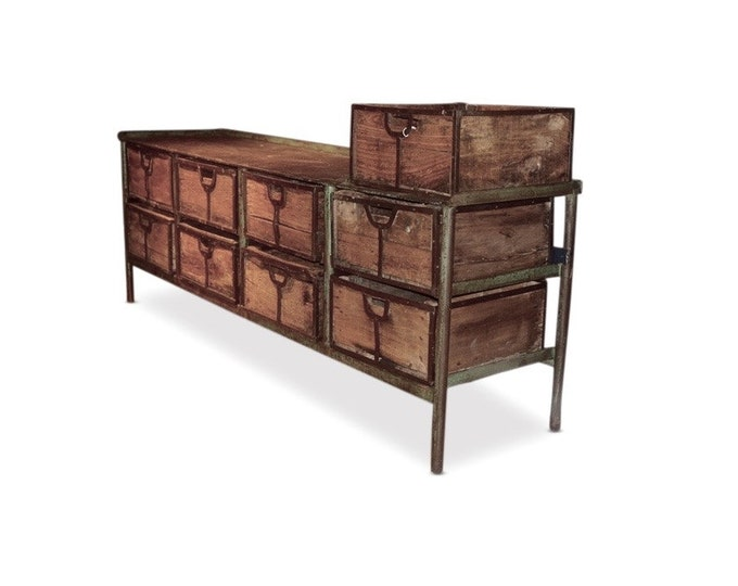 Workbench, 9 Drawers w/ Metal Framing and Top