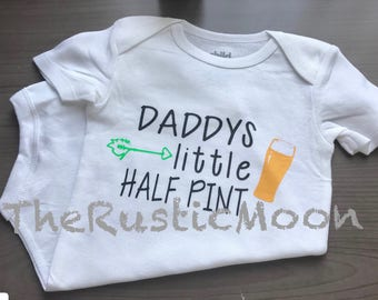 Daddy's Little Half Pint Custom Onesie