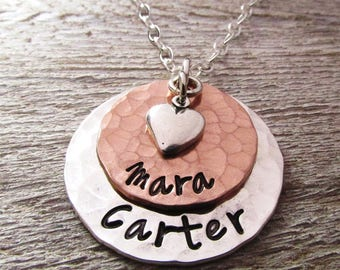 Mother's Day Gift for Grandma - Rose Layered - Personalized Gift for Mom Necklace - custom name - personalized necklace - mothers necklace