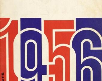 1956 CHICAGO CUBS print - Vintage Baseball Poster