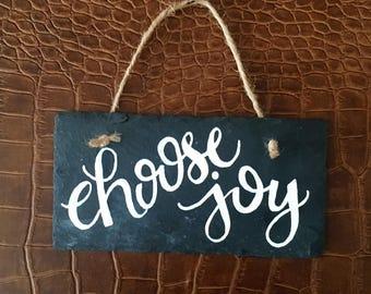 Choose Joy Slate Hanger