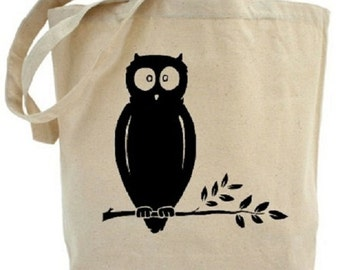 OWL Tote - Cotton Canvas Tote Bag