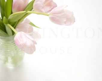 Pink tulips stock photography | Flower stock photography - Styled stock photograph - Pink and white stock photo - Spring stock photo - Fresh
