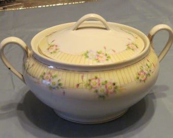 """Hand Painted """"Nippon"""" Covered Casserole Dish"""