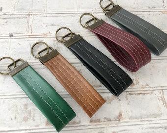 Vegan Leather Key Fob / Vegan Leather Key Chain / Leather Key Chain / Leather Key Fob / Faux Leather Key Chain / Faux Leather Key Fob /