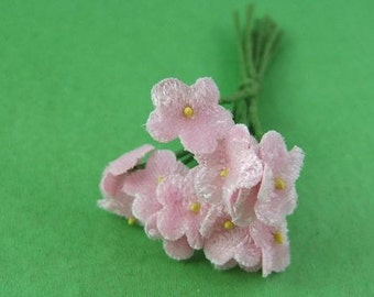 Small Pastel Pink Velvet Forget-Me-Not Bouquet