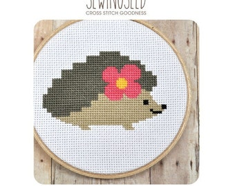 Hedgehog Cross Stitch Pattern