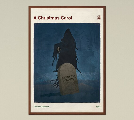A Christmas Carol Charles Dickens Large literary poster