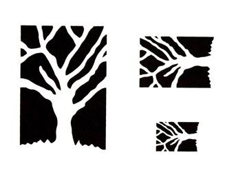 Stencil - Paint Stencil - Craft Stencil - Bare Trees Stencil - Home Decor - Stencil - Fabric Painting Stencil - CherScapes Stencil - DIY