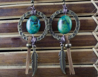 "Ethnic - Earrings gemstones "" Eila """