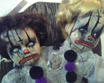 Conjoined Clown Twins Doll!