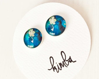 Blue belle Petite Studs - Ideal for tweens and teens