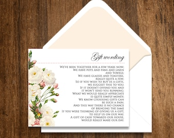 Printable Info Card, Direction Cards  EDITABLE White Roses Vintage Flowers Card - INSTANT DOWNLOAD for Wedding or Bridal Shower