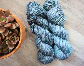 Aquatic/ Hand Dyed Yarn/ Plush- Bulky/ 100% Superwash Merino Wool