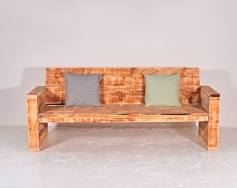 Garden Bench made of recycled lumber Barbera