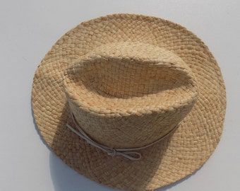 Hat man, woman hat, hat, girl Hat boy 54/55 cm, 56/57 cm, straw hat, natural raffia, woven hat, handmade