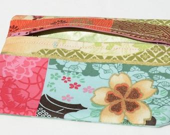 Japanese fabric zippered purse