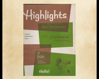 Vintage Highlights The Monthly Book For Children, Fun With A Purpose, Monthly Kids Educational Magazine, The Timbertoes, Goofus and Gallant