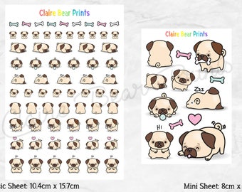 PUG Planner Stickers (2 options)