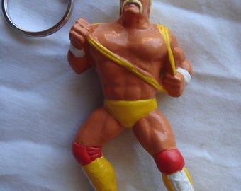 Wrestling Hulk Hogan Randy Savage keychain Titan Sports 1990