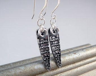 Silver Dangle Earrings, Nickel Free Earrings, Pewter Earrings, Pewter Jewelry, Nickel Free Jewelry, French Wire Earrings, Cool Earrings