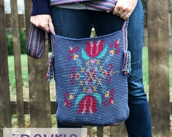 DIGITAL Download, Mochila Bag Pattern, crochet bag, crochet pattern, bag pattern, mochila bag, Crochet messenger bag, Messenger bag pattern