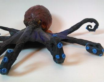 Octopus Sculpture, Papermache Deepsea Creature to hang