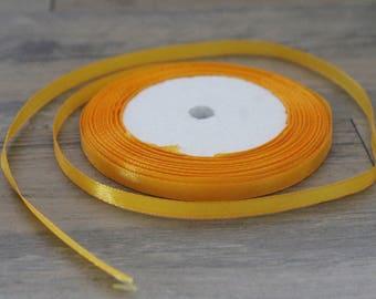 20 m of colored 6mm orange satin ribbon